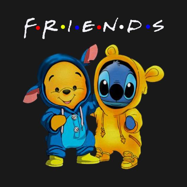 TeePublic: Friends Pooh and Stitch Change Uniform