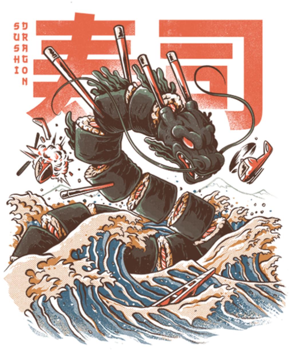 Qwertee: Great Sushi Dragon