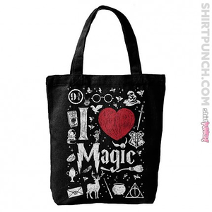 ShirtPunch: I Love Magic Tote