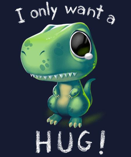 Qwertee: T-Rex hug