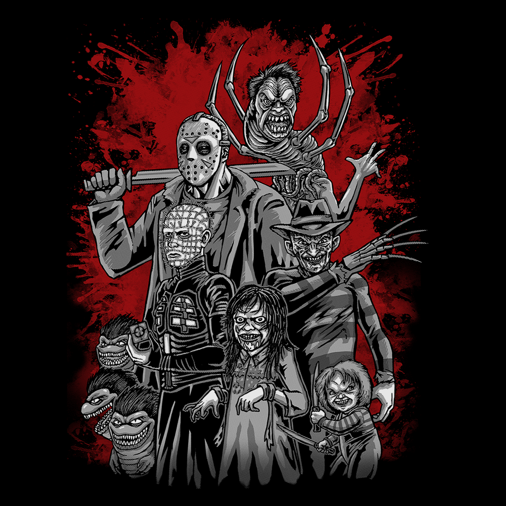Pop-Up Tee: Horror League