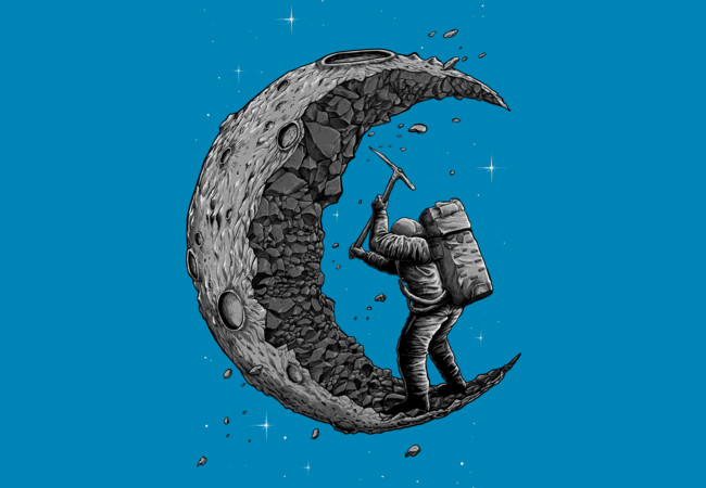 Design by Humans: digging the moon
