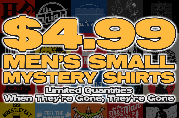 Top Rope Tuesday: Men's Small Mystery Shirts