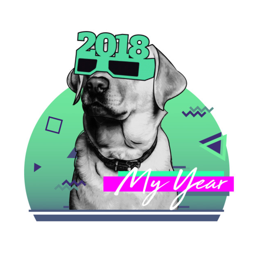 TeePublic: 2018 Year Of The Dog Retro
