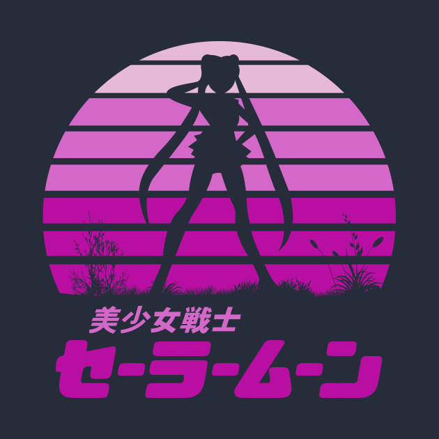 TeePublic: Sailor Moon Sun Set
