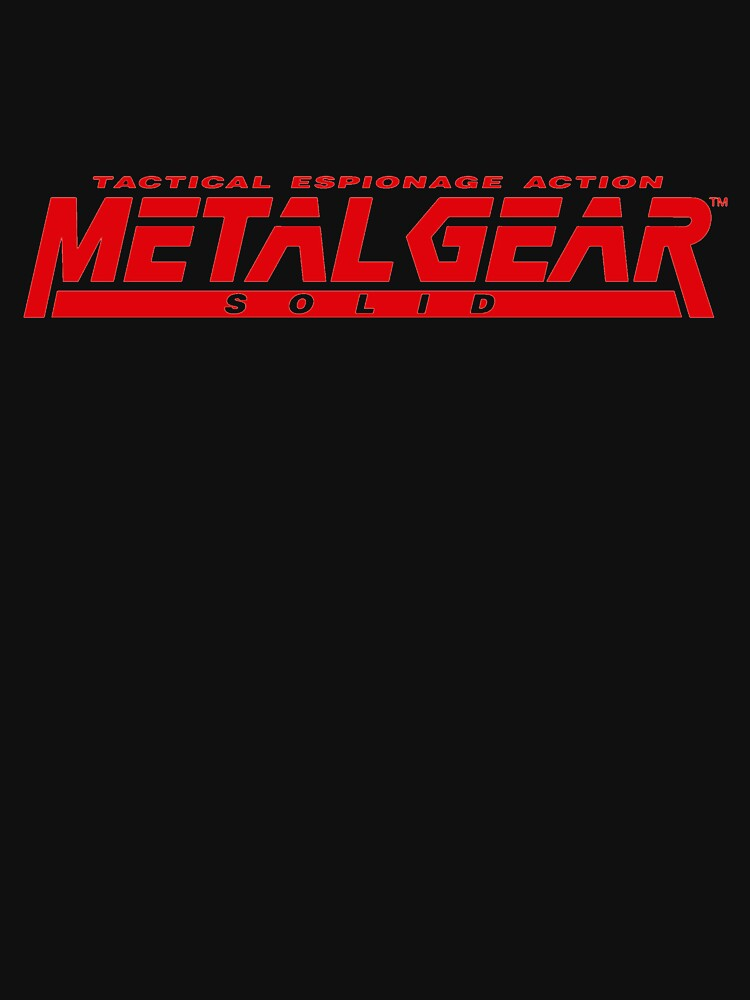 RedBubble: metal gear solid logo