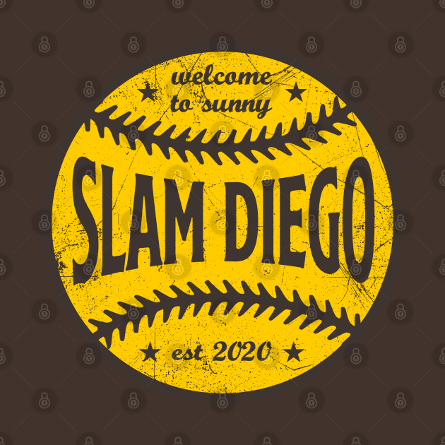 TeePublic: Slam Diego, Retro Ball