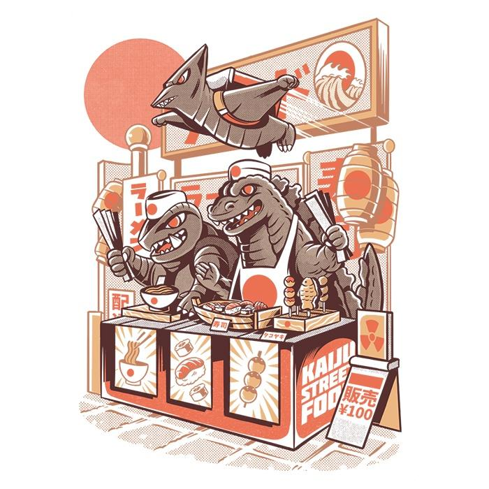 Once Upon a Tee: Kaiju Food Vendors