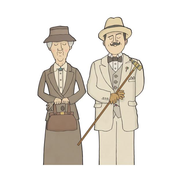 TeePublic: Poirot and Marple
