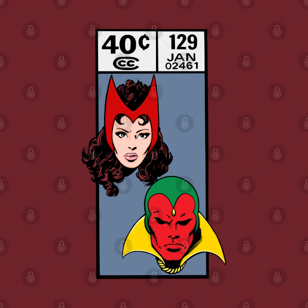 TeePublic: Scarlet Witch and the Vision