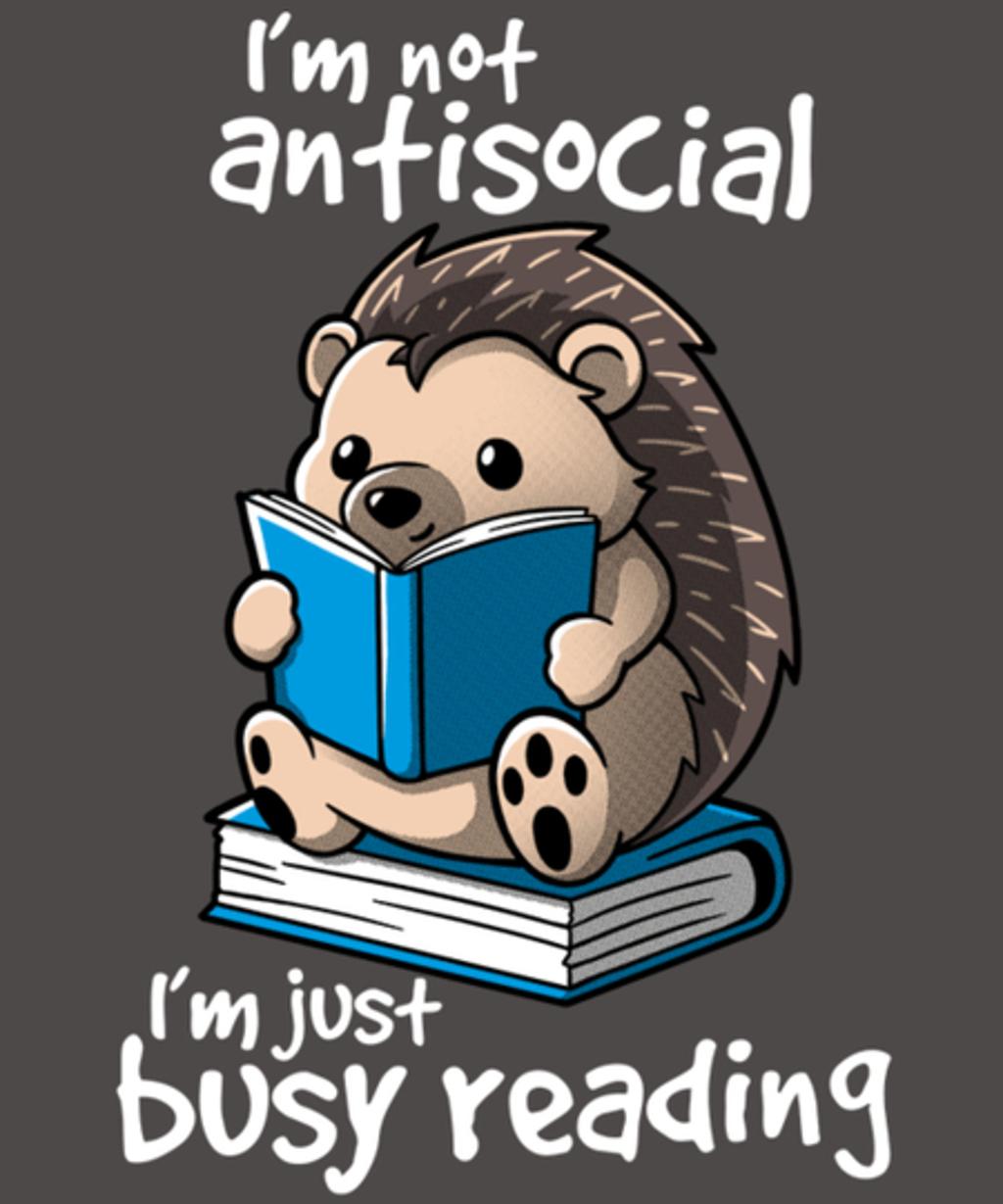 Qwertee: Antisocial hedgehog