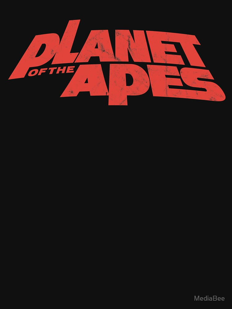 RedBubble: Planet of the Apes vintage red logo 1968
