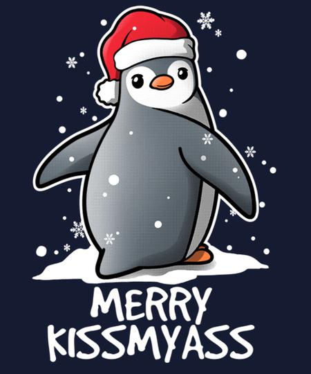 Qwertee: Penguin Merry kissmyass