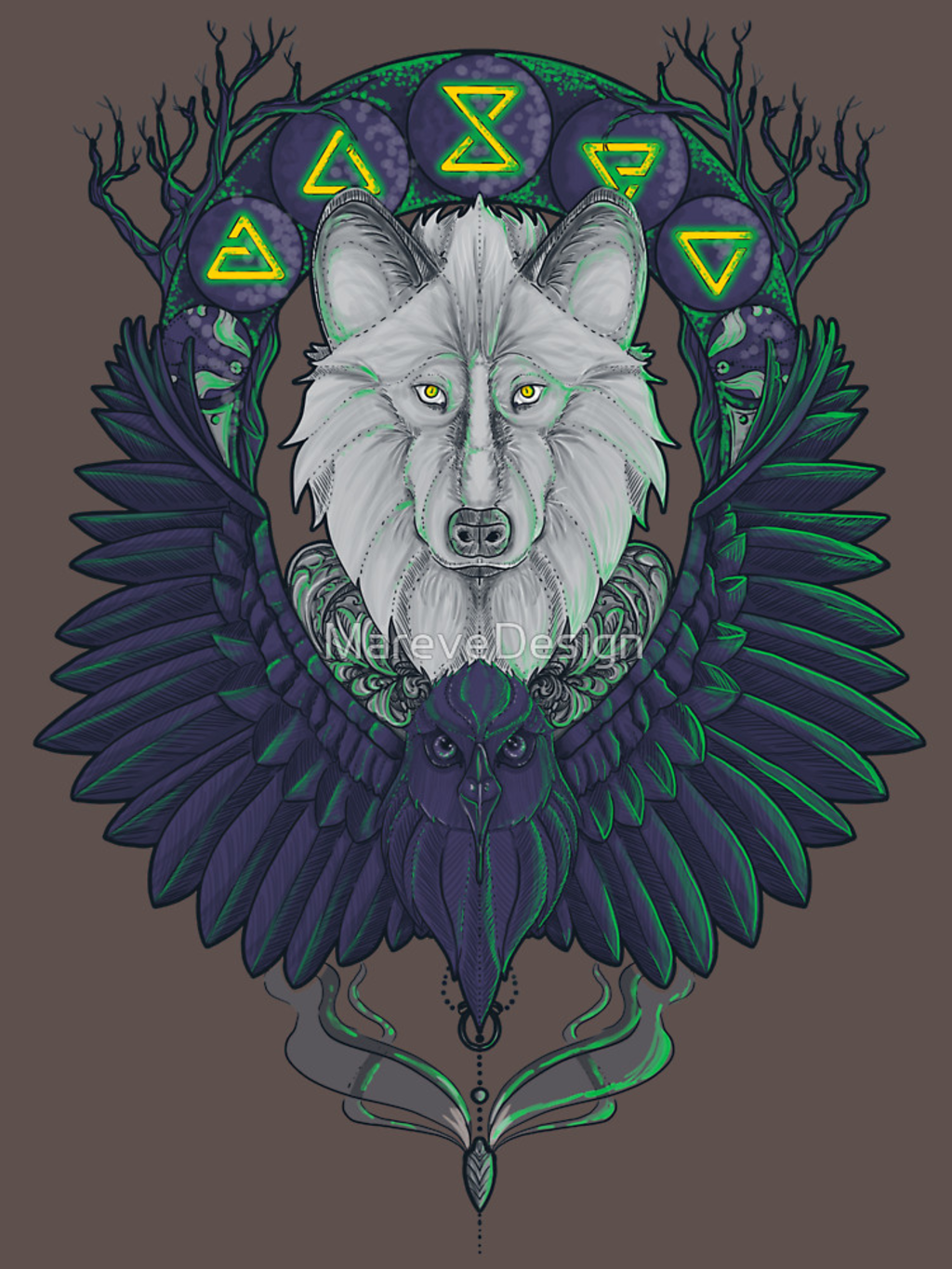 RedBubble: Raven and the Wolf