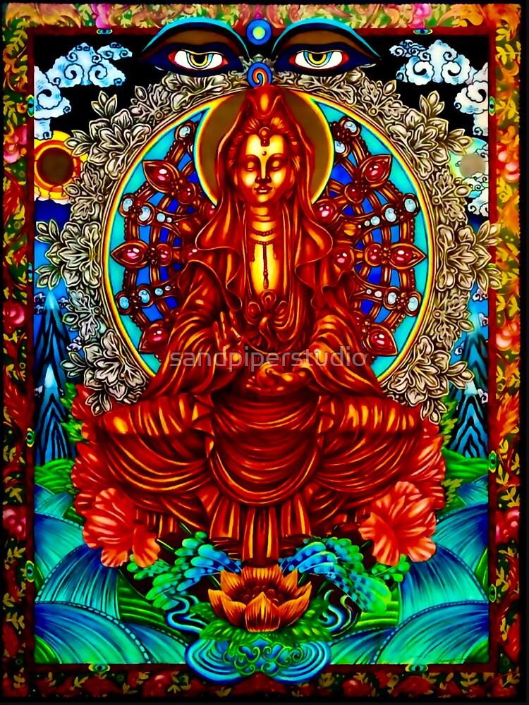 RedBubble: Quan Yin, Buddha, meditation, tranquility, calmness, mandala, enlightenment