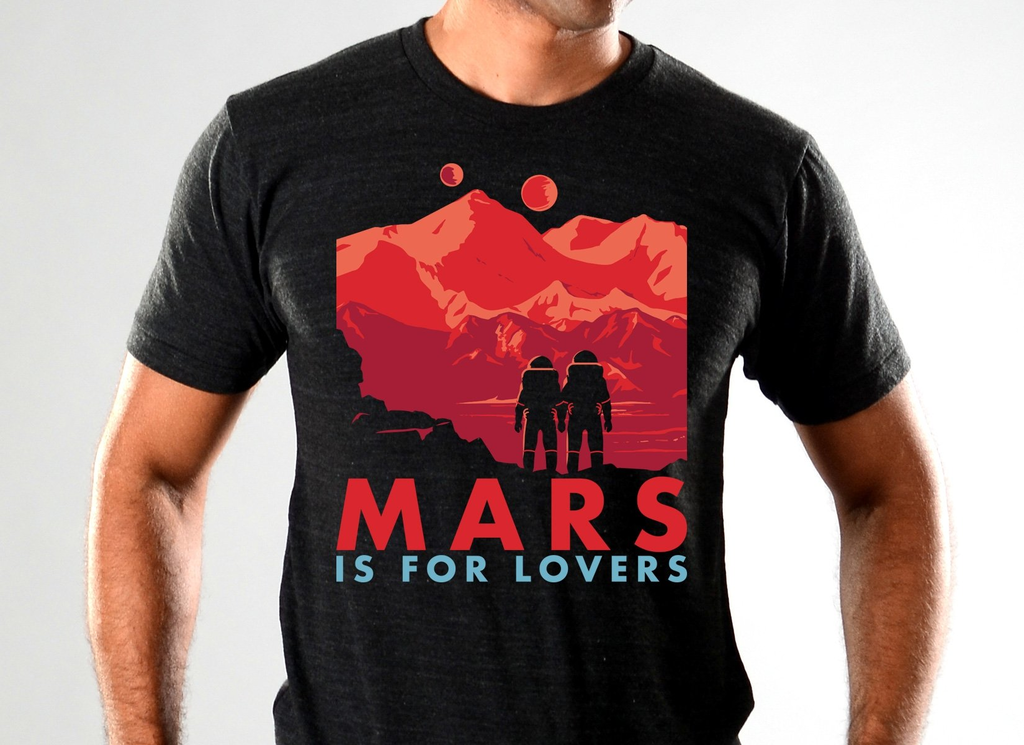 SnorgTees: Mars Is For Lovers Limited Edition Tri-Blend