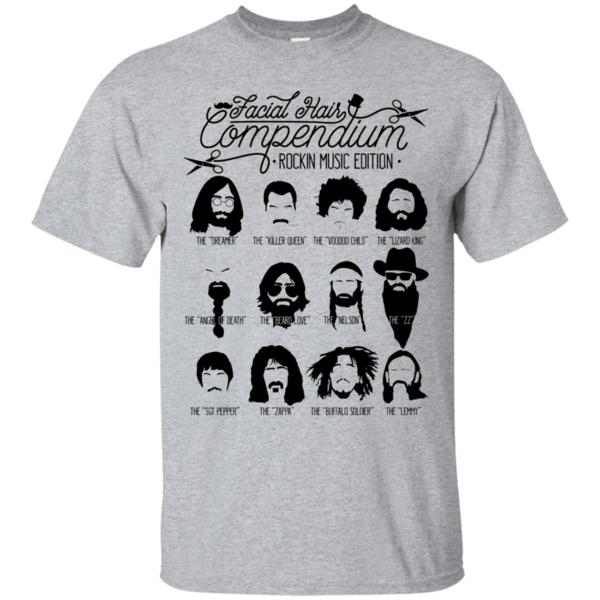 Pop-Up Tee: The Music Facial Hair Compendium