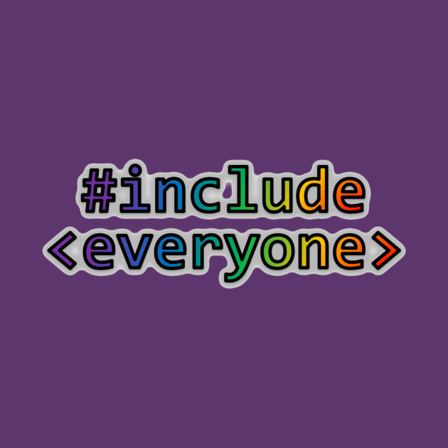 TeePublic: Geeks for Peace - #include everyone