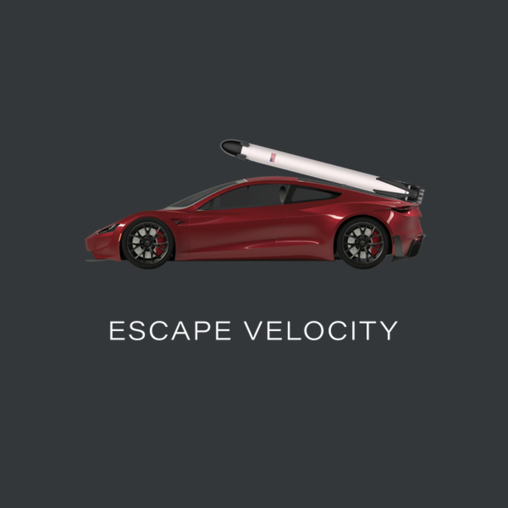 "NeatoShop: Space Roadster ""Escape Velocity"" (Red w/ light text)"