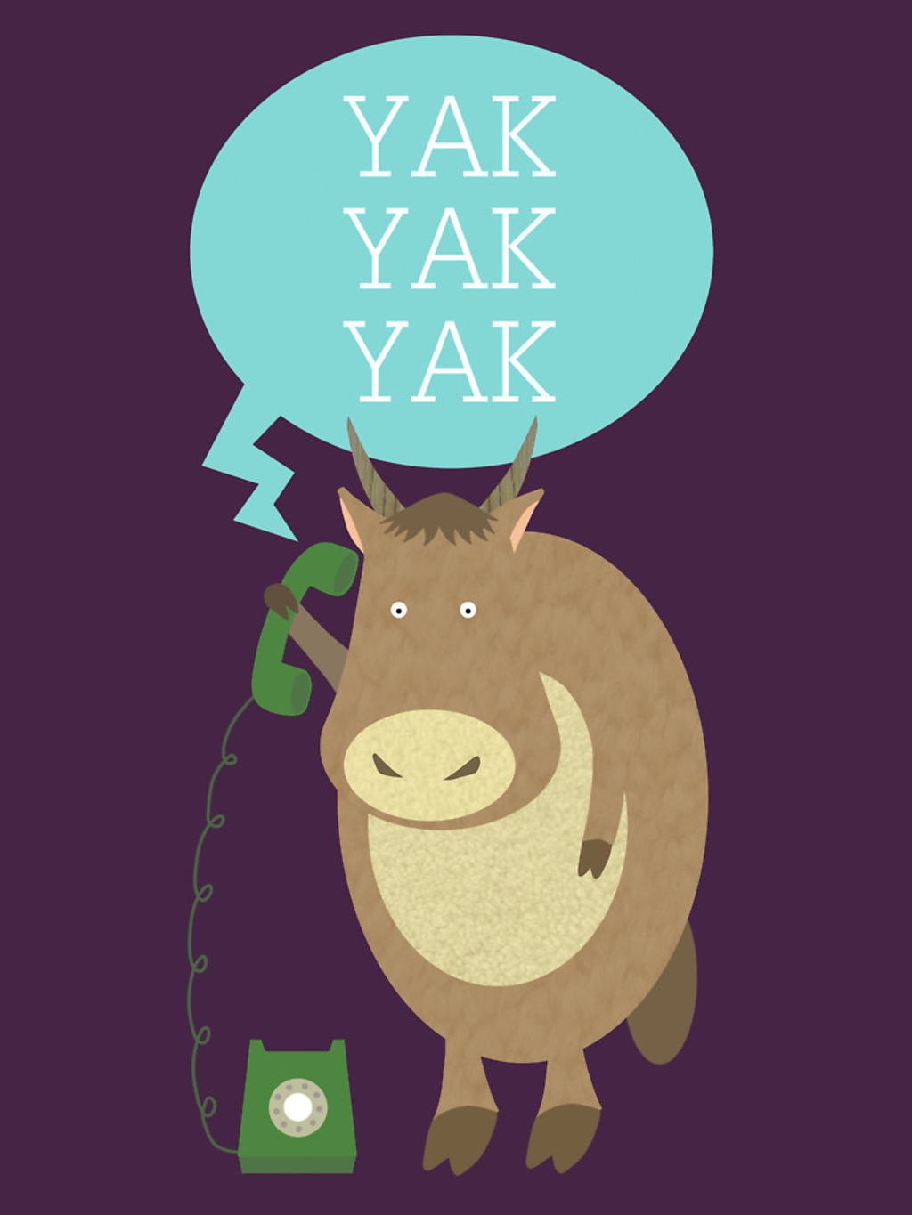RedBubble: Yak on the Phone