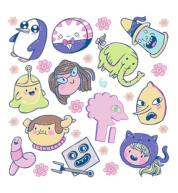 RedBubble: Adventure Time Friends 2