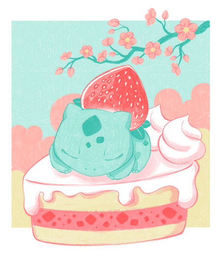 Qwertee: Strawberrysaur Cake