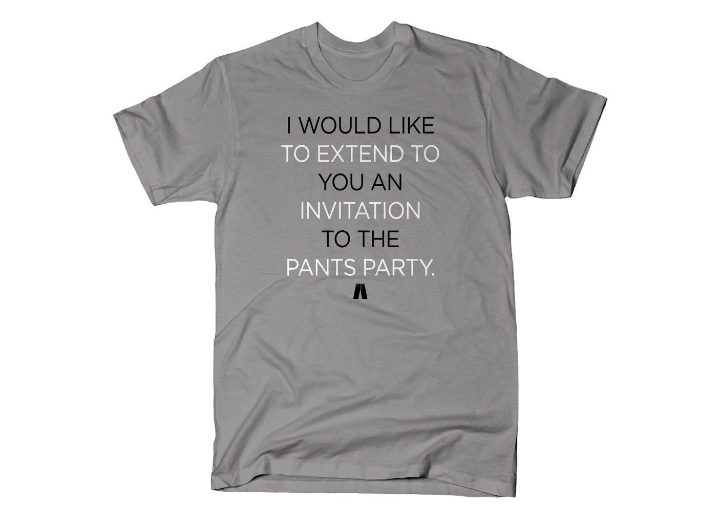 SnorgTees: Invitation To The Pants Party