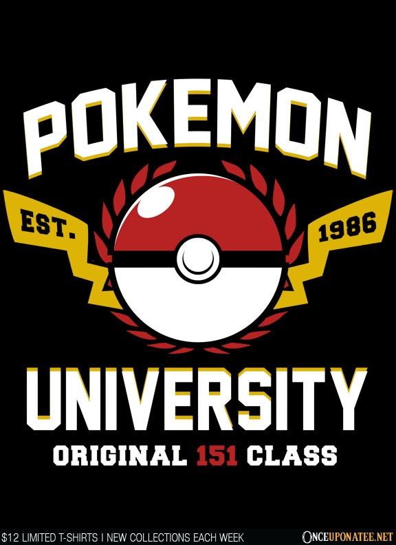Once Upon a Tee: Pokemon University