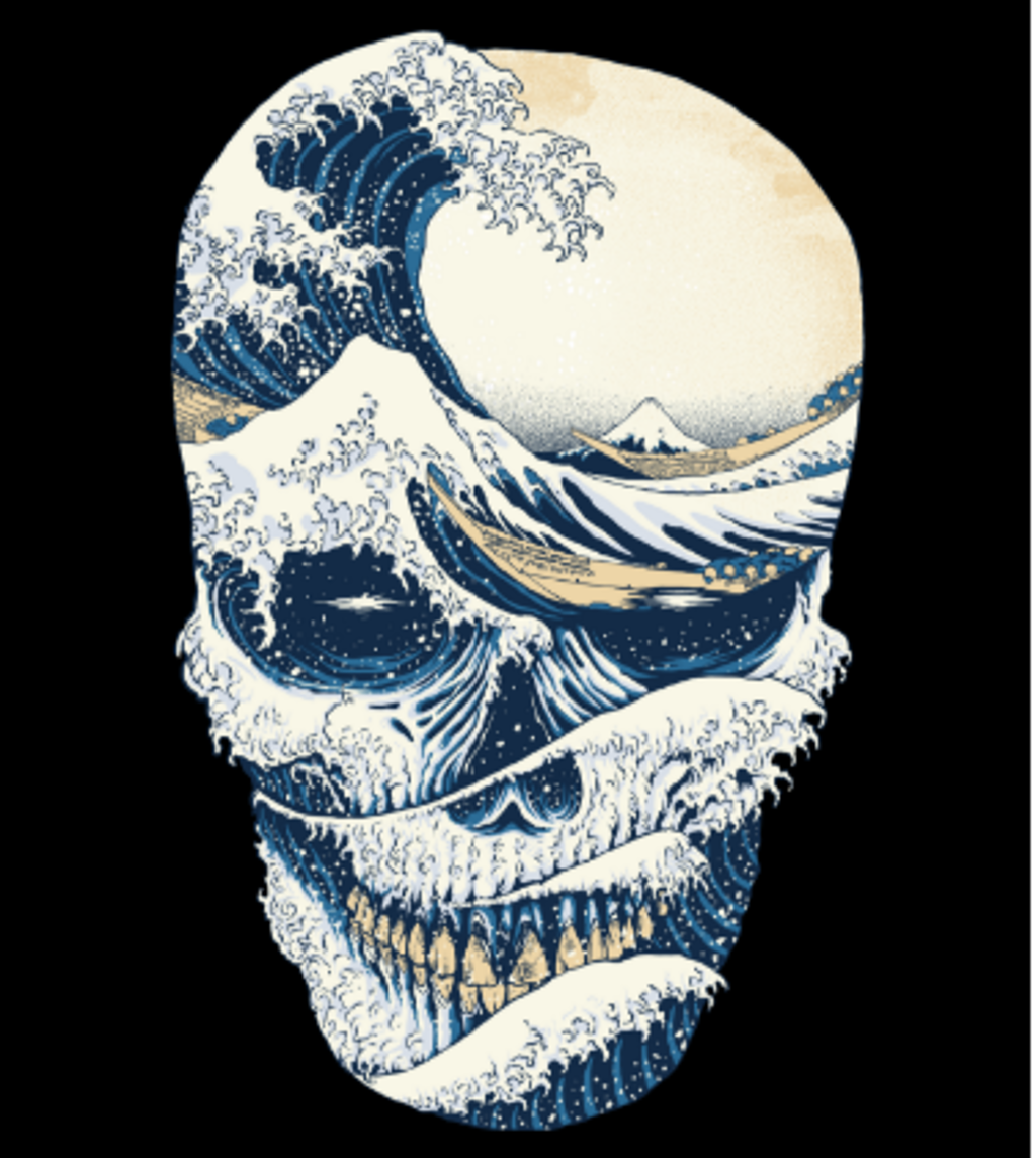 Shirt Battle: The Great Wave off Skull