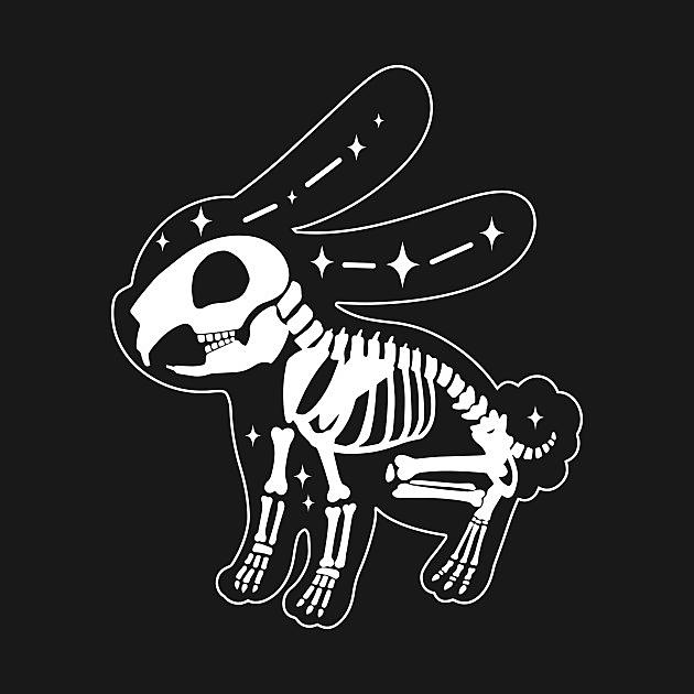 TeePublic: rabbit skeleton