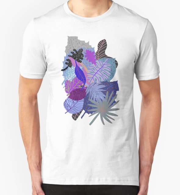 RedBubble: Ultraviolet Fade Nature Leaves