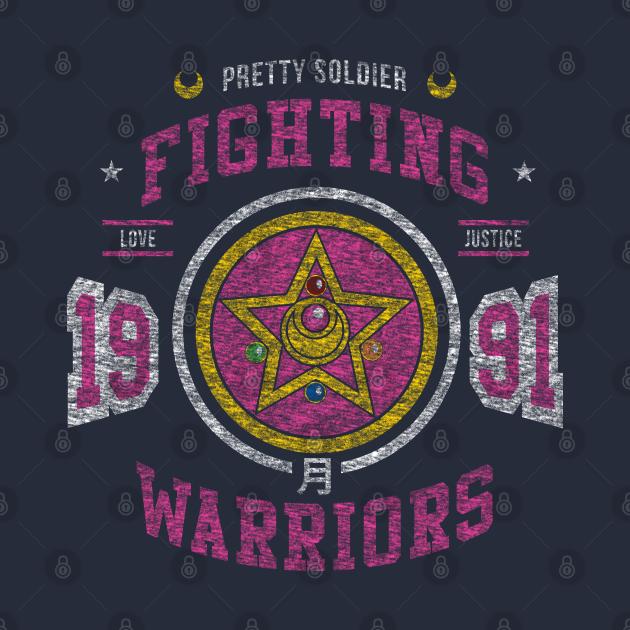 TeePublic: Fighting Senshi Vintage Option