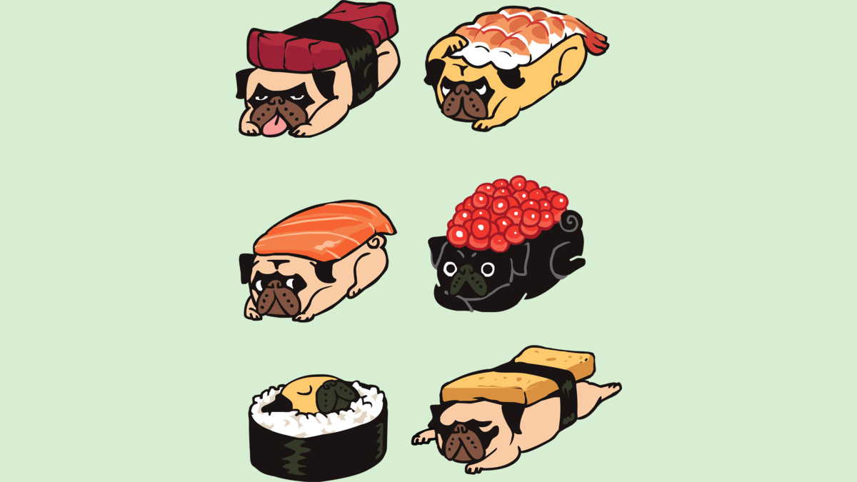 Design by Humans: Sushi Pug