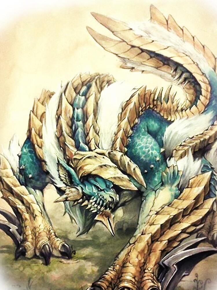 RedBubble: Monster Hunter - Zinogre, Roaring Thunder