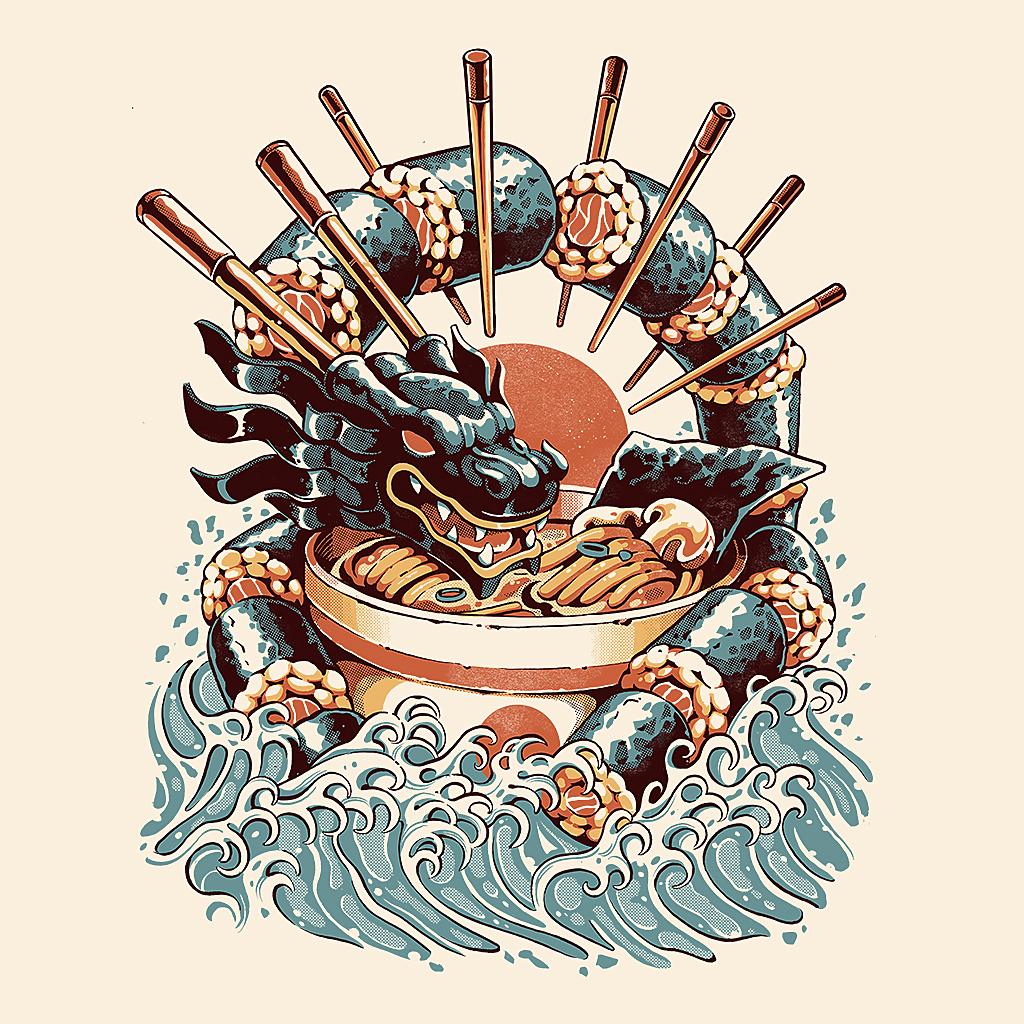 TeeTee: Dragon Sushi Ramen