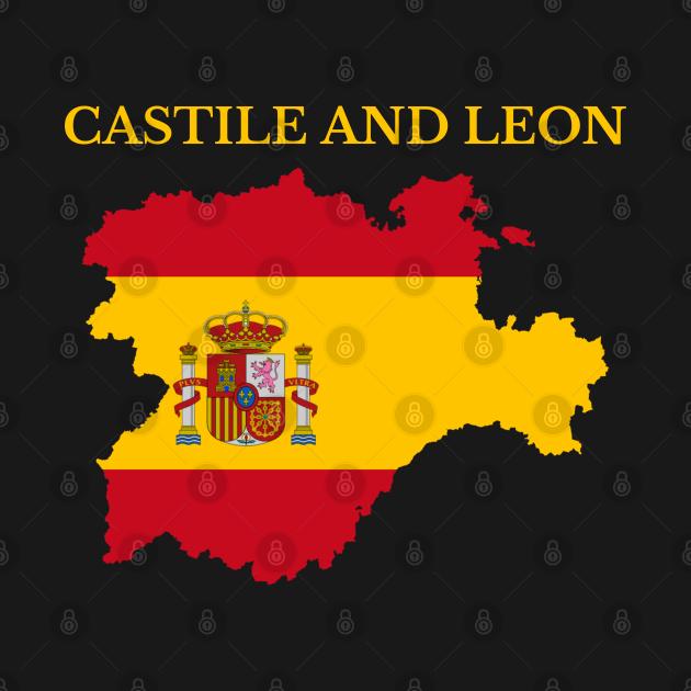 TeePublic: Castile and León Map Spain