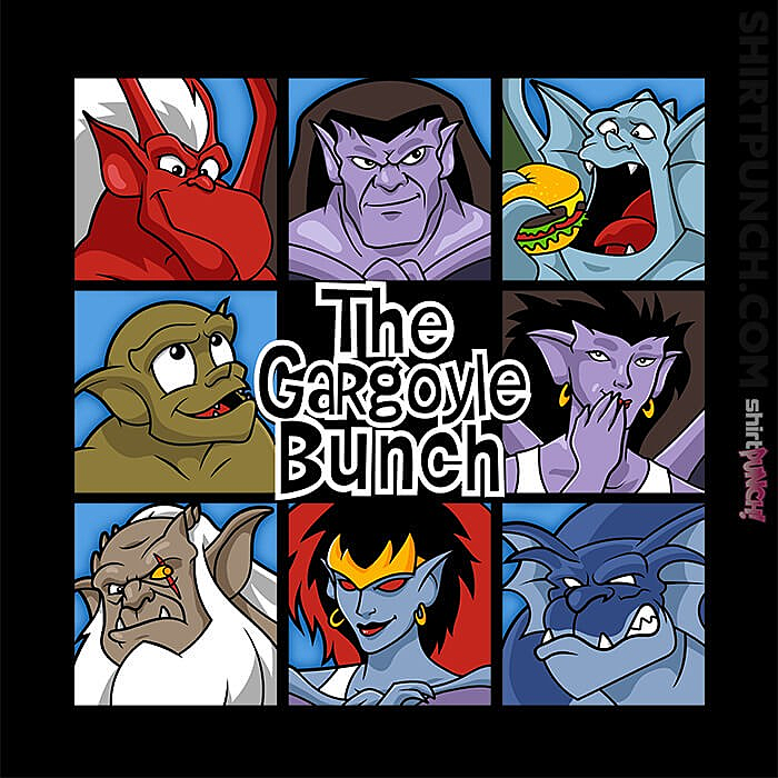 ShirtPunch: The Gargoyles Bunch