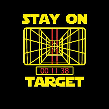 BustedTees: Stay On Target Stars Funny Great Gift