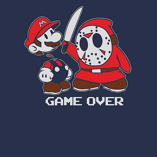 BustedTees: Mario the 13th Tshirt