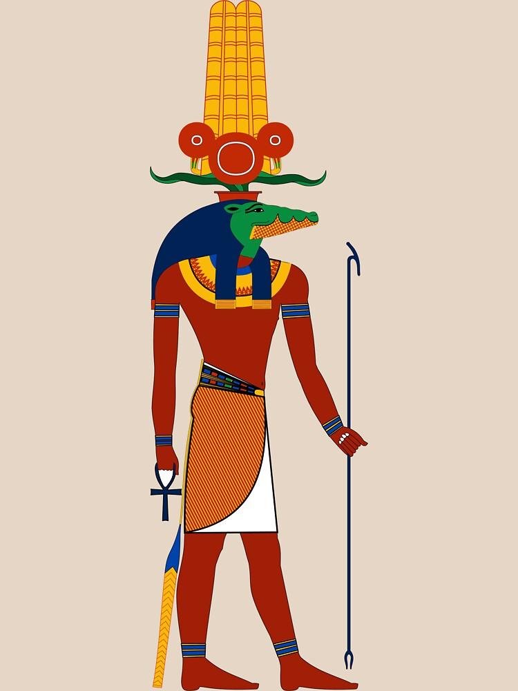 RedBubble: Sobek | Egyptian Gods, Goddesses, and Deities