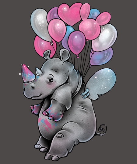 Qwertee: Chubby Unicorn