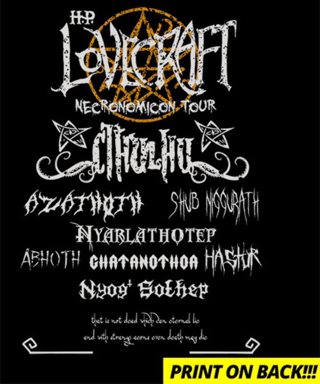 Qwertee: Necronomicon Tour