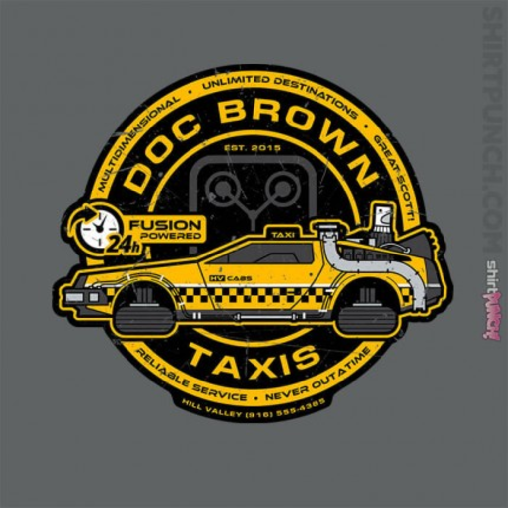 ShirtPunch: Doc Brown Taxis