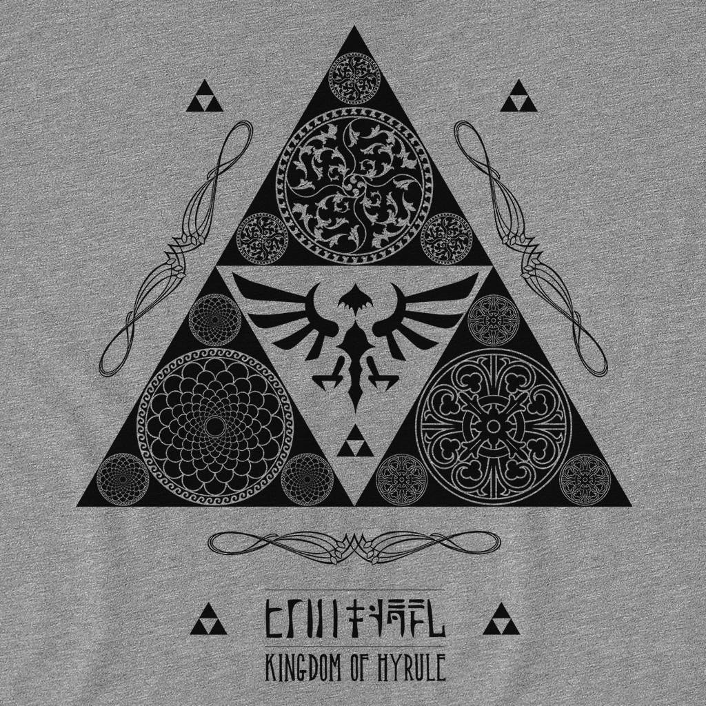 Pop-Up Tee: Triforce of Hyrule Kingdom