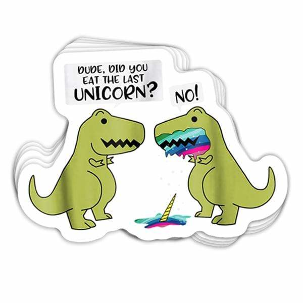 BustedTees: Did You Eat The Last Unicorn? Vinyl Sticker