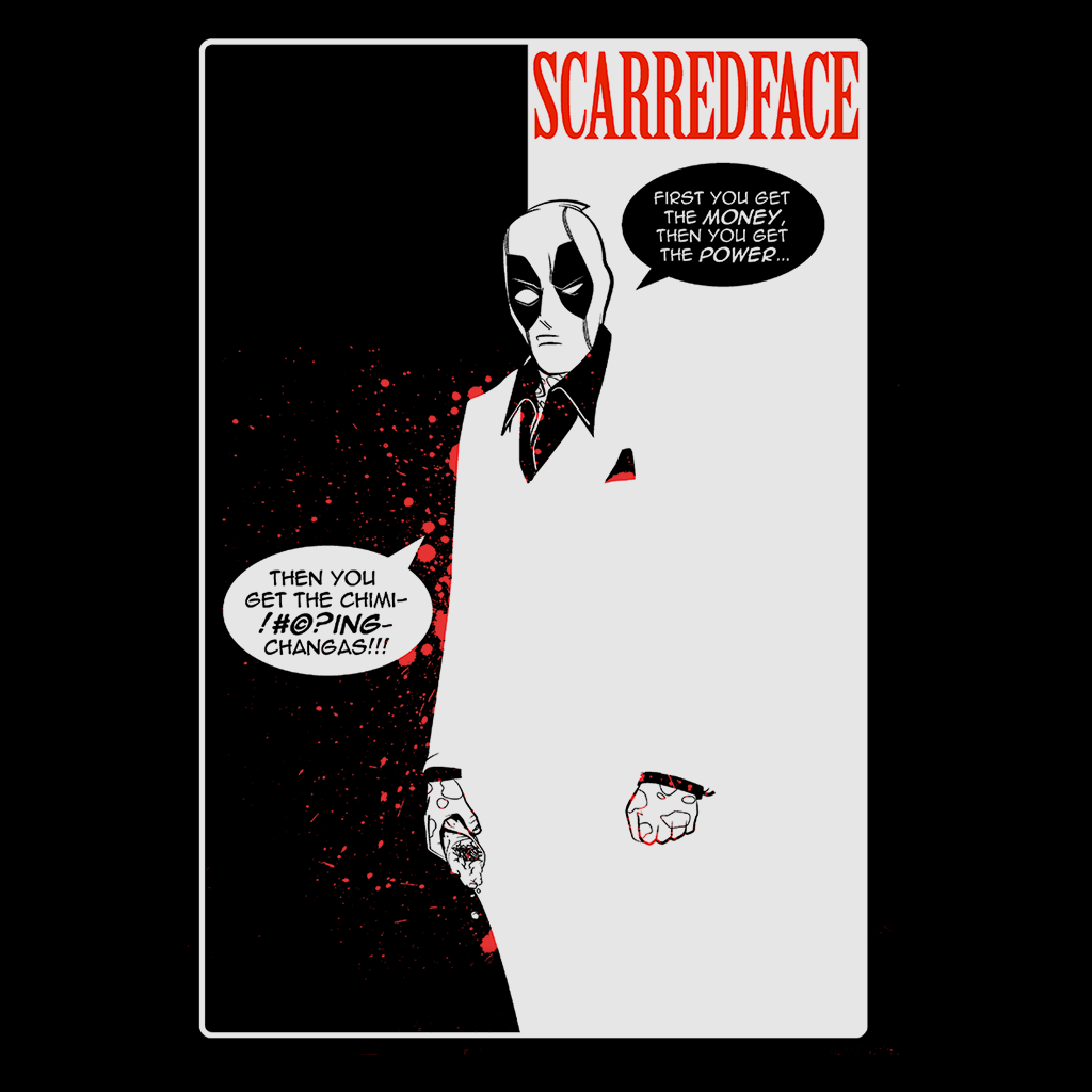 Pop-Up Tee: Scarred Face