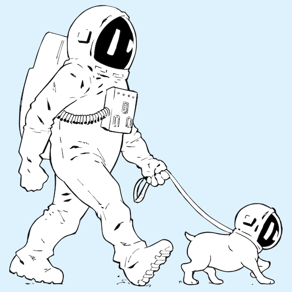 NeatoShop: Walking the Dog Astronaut