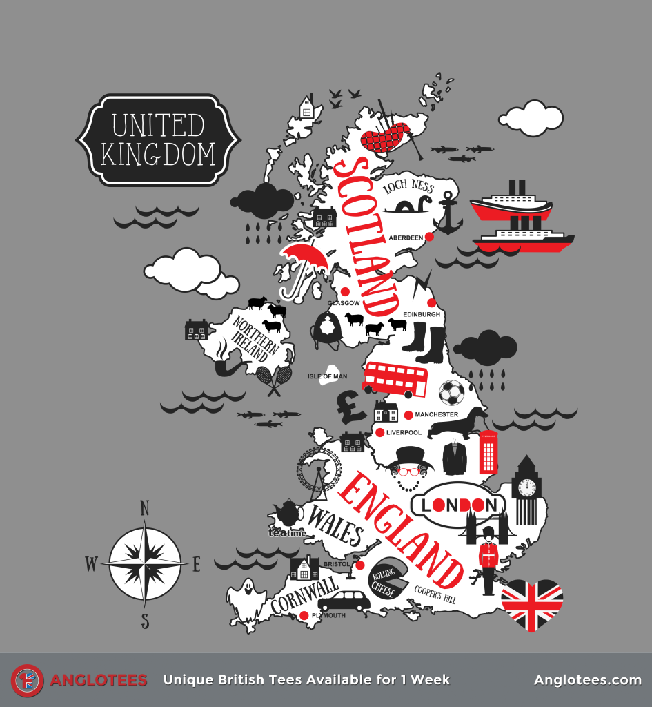 Anglotees: Kingdom Map