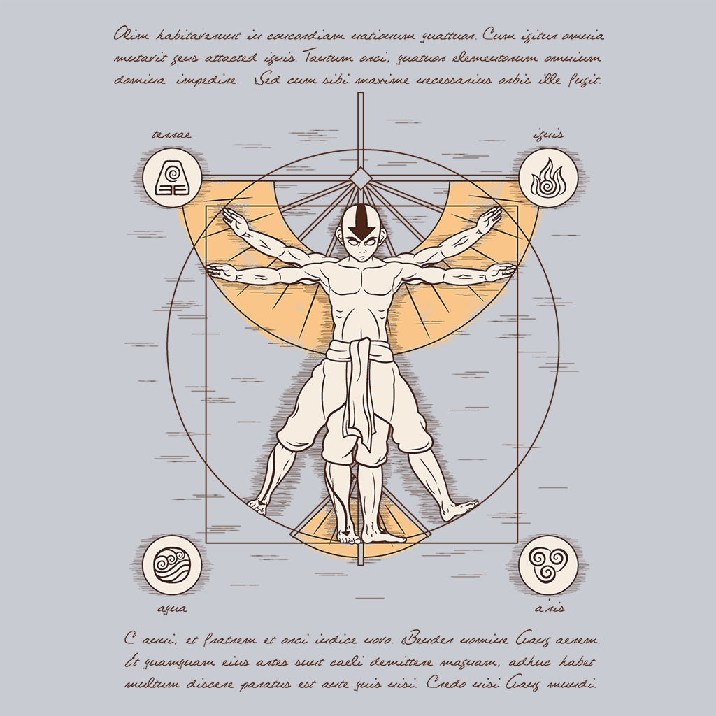 Pop-Up Tee: Vitruvian Aang