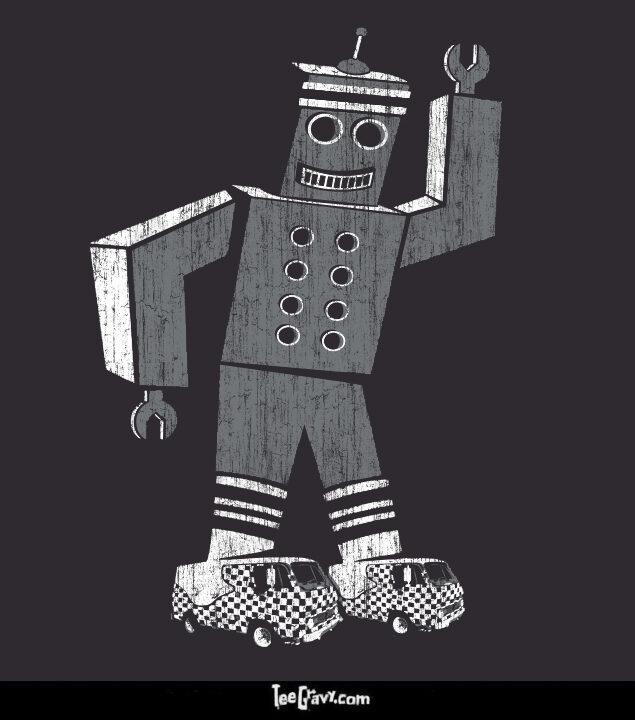 Tee Gravy: Funkybot and the Cool Kicks